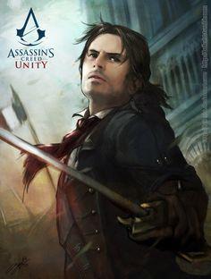 Arno Dorian Poster made by Brilcrist. Here's her Deviantart >> http://brilcrist.deviantart.com/ #AssassinsCreed Unity