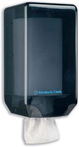 Dispenser Mini Wiper Kimberly Clark-7905 pentru prosoape rola, este economic si reduce consumul de hartie.