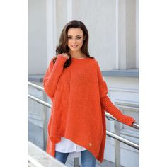 Pull Poncho, Smart Casual, Sweaters For Women, Dressing, Wool, Mohair, Clean Iron, Bleach, Orange