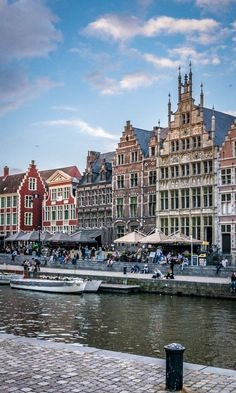 Brussels, Bruges and Antwerp. But do you know Ghent? Visit Belgium, Ghent Belgium, Celebrity Travel, Beautiful Places To Travel, Koh Tao, Travel Aesthetic, Dream Vacations, Vacation Travel, Countries Of The World