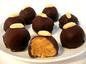 Cream cheese peanut butter balls are easy truffles made with cream cheese and peanut butter and covered in melted chocolate. Cream cheese peanut butter balls are easy truffles made with cream cheese and peanut butter and covered in melted chocolate. Peanut Butter Truffles, Peanut Butter Eggs, Butter Cheese, Peanut Butter Candy, Chocolate Peanut Butter, Melted Chocolate, Chocolate Cheese, Easy Holiday Desserts, No Bake Desserts