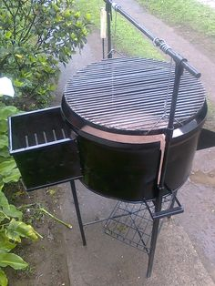 The Time For Fire Pit – Outdoor Kitchen Designs Bbq Grill, Wood Grill, Fire Pit Grill, Barbecue, Fire Pits, Fire Pit Supplies, Built In Braai, Grill Table, Glass Fire Pit
