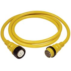 Marinco 50A 125V Shore Power Cable - 50' - Yellow - https://www.boatpartsforless.com/shop/marinco-50a-125v-shore-power-cable-50-yellow/