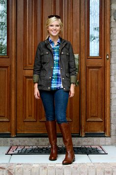 Life with Emily: Outfit Post: The Utility Jacket (how to style my J. Crew Downtown Field Jacket)