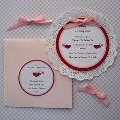 Cute tea party invitations