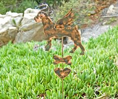 Boxer Metal Garden Art Pet Memorial Stake Dog Memorial