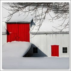 Red barn doors...