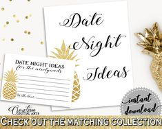 Date Night Ideas Bridal Shower Date Night Ideas Pineapple Bridal Shower Date Night Ideas Bridal Shower Pineapple Date Night Ideas Gold 86GZU #bridalshower #bride-to-be #bridetobe