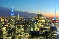 New York, Top of the Rock, uitzicht vanaf het Rockefeller Center