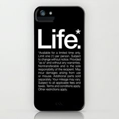 Life.* Available for a limited time only. iPhone Case by WORDS BRAND™ #life #quotes #inspiration