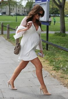 Pregnant Binky Felstead stuns in boho dress at baby shower   Daily Mail Online