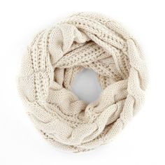 "Spotted while shopping on Poshmark: ""HP Off white cable knit infinity scarf medium size""! #poshmark #fashion #shopping #style #Accessories"