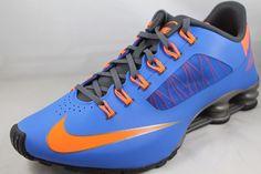 blue and orange nike shox
