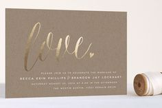 Charming Love Foil-Pressed Wedding Invitations by Melanie Severin at minted.com
