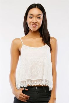 BABY DOLL CAMI M/ LACE TRIM