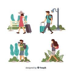 Travel Illustration, Flat Illustration, Character Illustration, Human Vector, Travel Clipart, Human Sketch, Iphone Instagram, Sticker Design, Vector Design