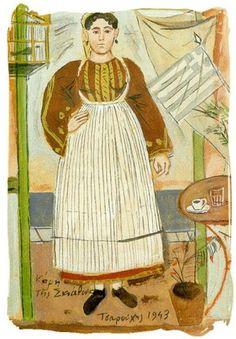habilis habilis: Γιάννης Τσαρούχης Classical Period, Classical Art, Greek Traditional Dress, Greece Painting, Hellenistic Period, Greek Art, 10 Picture, Caravaggio, Modigliani
