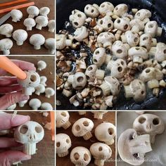 Halloween Snacks, Plat Halloween, Comida De Halloween Ideas, Hallowen Food, Halloween Dinner, Holidays Halloween, Happy Halloween, Halloween Post, Halloween Skull