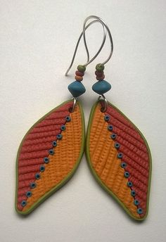 WP_20161121_001 | Textured polymer clay earrings by Shelley … | Shelley Atwood | Flickr