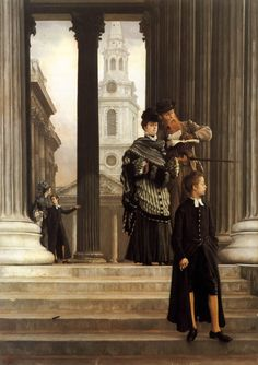 James Jacques Joseph Tissot (1836-1902) London Visitors Oil on canvas c1874