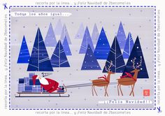 Freebie: Cute Christmas card from 2become1.es (personal use only) - Tarjeta Navideña imprimible
