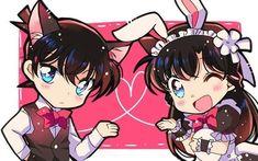 Conan Comics, Detektif Conan, Anime Love Couple, Cute Anime Couples, Detective Conan Ran, Kaito Kid, Gosho Aoyama, Disney Princess Quotes, Kudo Shinichi