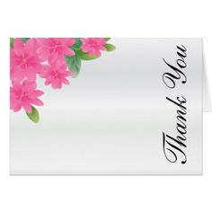White Wedding Satin and Pink Floral Card - wedding thank you marriage thankyou idea diy customize personalize