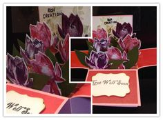 Lotus card in a box Lotus, Stampin Up, Just For You, Box, How To Make, Cards, Handmade, Card Ideas, Lotus Flower