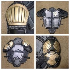 Dredd 3D armor plates chest abs and back only by MrPinskiProps