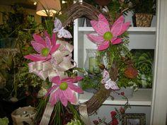 Pink Butterfly Wreath