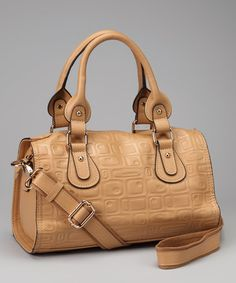 Take a look at this Taupe Satchel by Adhesion, LLC on #zulily today!