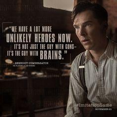 Benedict Cumberbatch is Alan Turing in The Imitation Game.