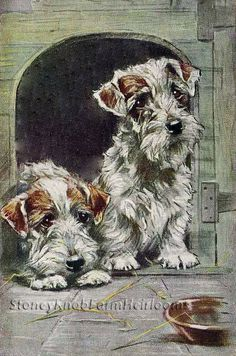 In The Doghouse ~ Dogs ~ Counted Cross Stitch Chart #StoneyKnobFarmHeirlooms #CountedCrossStitch