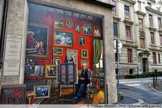 "Fresque ""Hommage à Tony Tollet"" (1857-1953). Lyon, Rhône-Alpes"