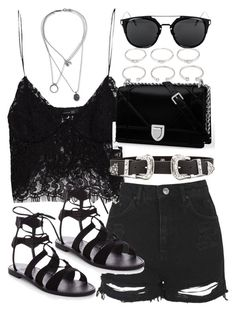 """""""Outfit for a music festival"""" by ferned on Polyvore featuring Topshop, Zara, B-Low the Belt, Forever 21 and Maison Margiela"""