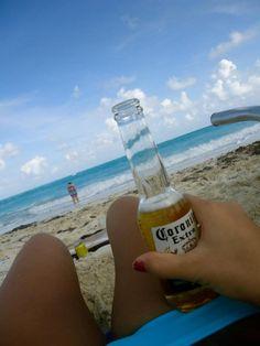 Drinking a #corona on the #beach