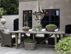 Table de terrasse magnifique bois - Tuin & terras - mooi grijze tint
