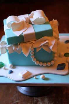 a Tiffany box cake