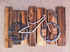 Bike Art  Rough and Rustic by TheBikeFund on Etsy. , via Etsy.