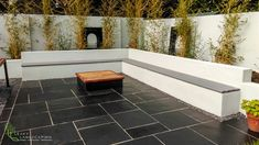 Black Limestone Patio_ Cedar Herb Wall, Collaboration with Maddie Dineen design & Leavy Landscaping 29 Limestone Patio, Landscape Design, Garden Design, Herb Wall, Ireland Landscape, Garden Landscaping, Collaboration, Tile Floor, Construction