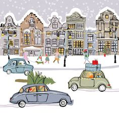 """Christmas Cars"" by Louise Cunningham"