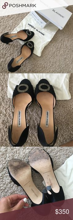 Manolo Blahnik Sedarabys Worn once! Dustbag and box included. The lid of the box is ripped on one corner. Manolo Blahnik Shoes Heels