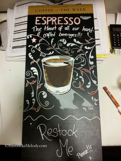 Starbucks chalkboard art contest (click for more entries)