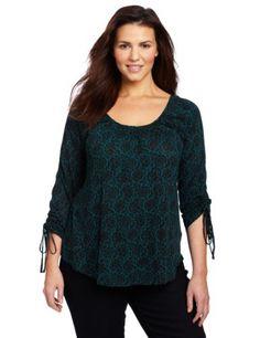 Lucky Brand Women's Plus-Size Chantilly Hera Top, Green Multi, 2X Lucky Brand,http://www.amazon.com/dp/B00987LRAS/ref=cm_sw_r_pi_dp_mDOUqb02EWM1G0YS