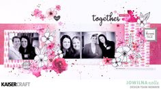 Double Page layout Inspiration Diy Scrapbook, Scrapbooking Layouts, Scrapbook Pages, Diy Paper, Paper Crafts, Craft Tutorials, Craft Ideas, Layout Inspiration, Page Layout
