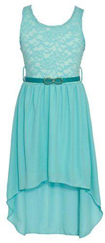 Wonder Girl Big Girls' Solid Lace Chiffon High Low Dress Set 6 Tiffany Blue Wonder Girl http://smile.amazon.com/dp/B00PG7CVZ4/ref=cm_sw_r_pi_dp_1pGdvb05SQ6Y3