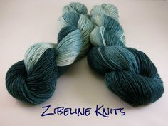 Black Mountain Ridge Hand Painted Superwash BFL Fingering Weight Yarn. $24.00, via Etsy.