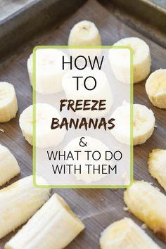 Frozen Banana | Flash Freeze | Freezer Prep | Frozen Fruit | Meal Plan Addict