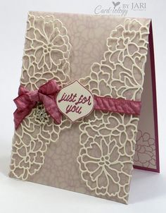 For all of the details on creating this card and the products used, please visit my blog here: http://cardiologybyjari.com/stampin-love-sneak-peek/