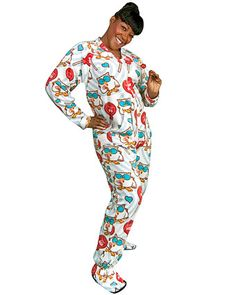 d9d8e007de I need a pair of these footed pajamas with tootsie pops and a butt flap.